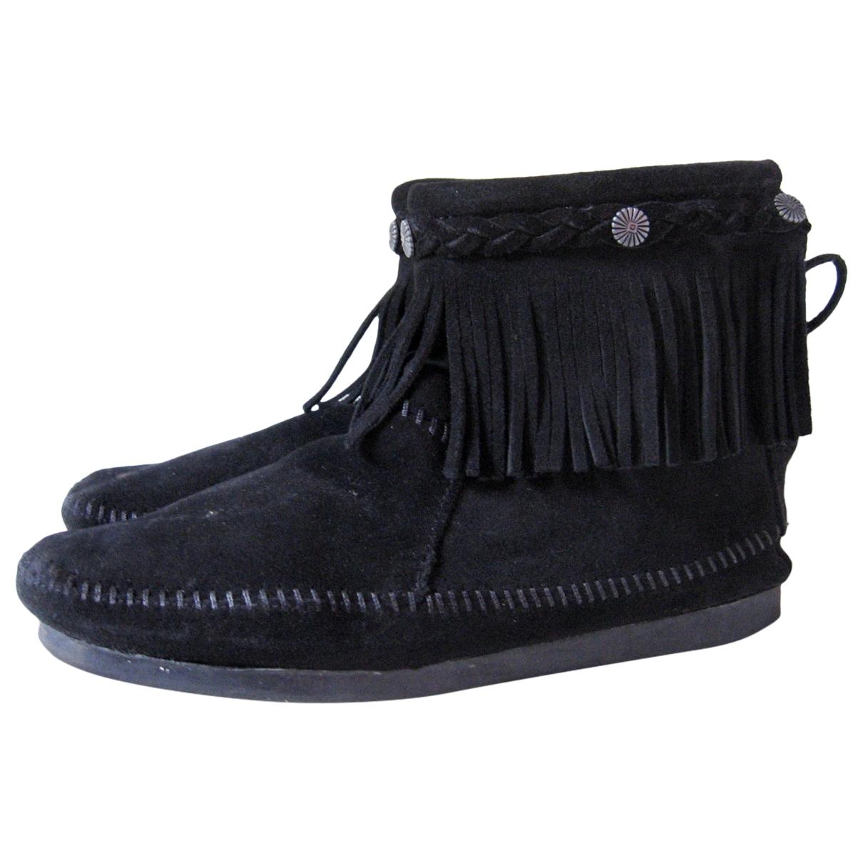 Minnetonka \N Stiefeletten in  Schwarz Leder