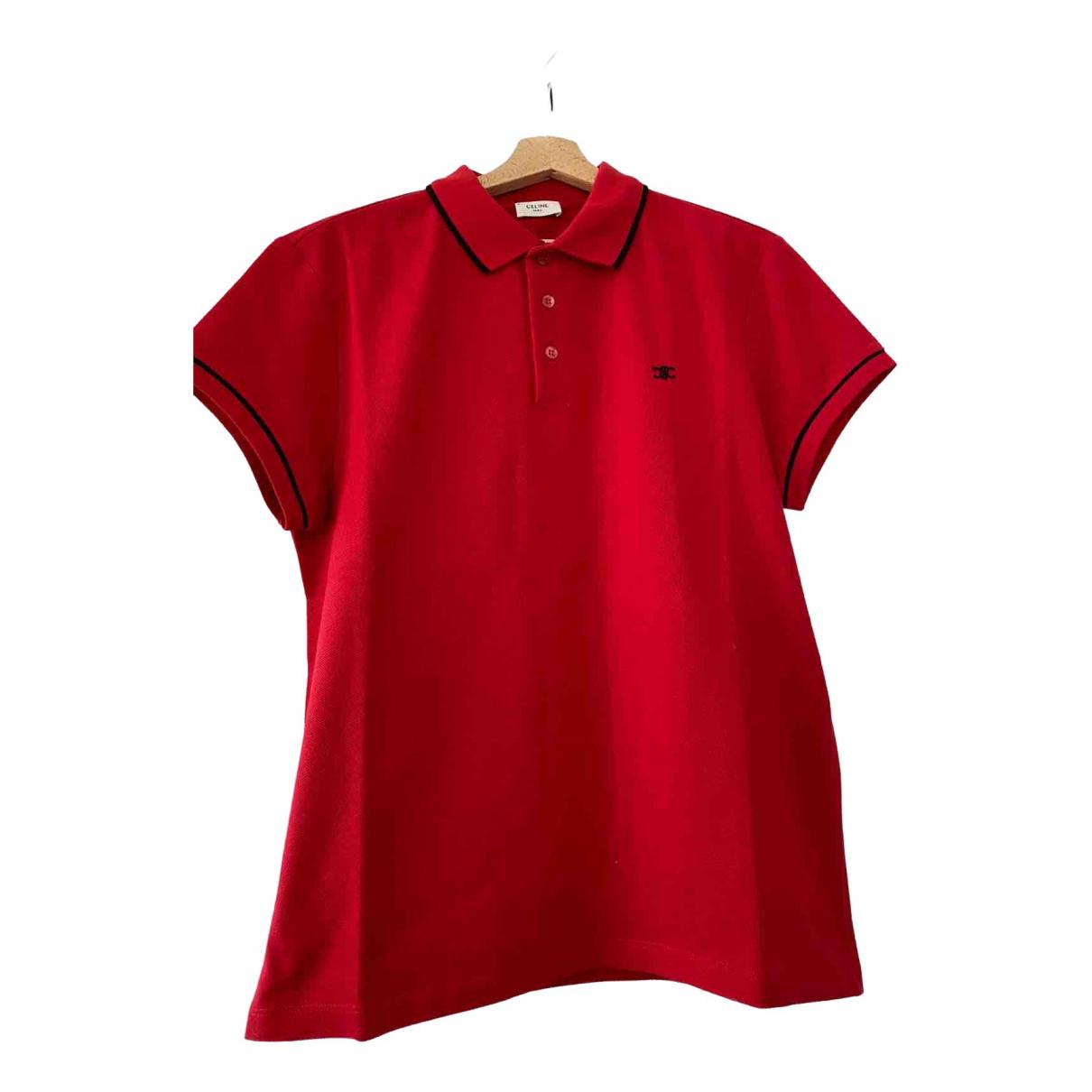 Celine - Polos   pour homme en coton - rouge