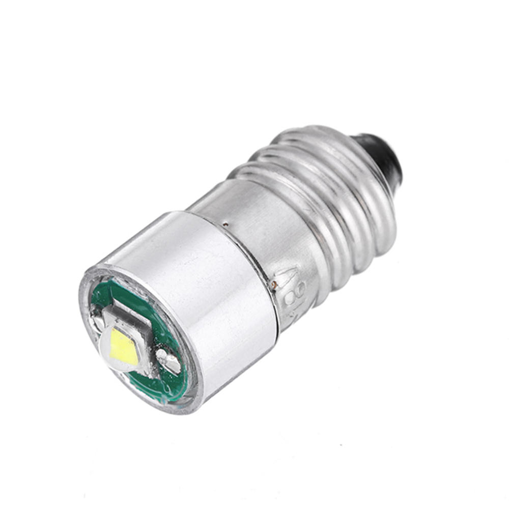 E10 3W LED Flashlight Replacement Bulb Torch Light DC 3-18V White 1PCS