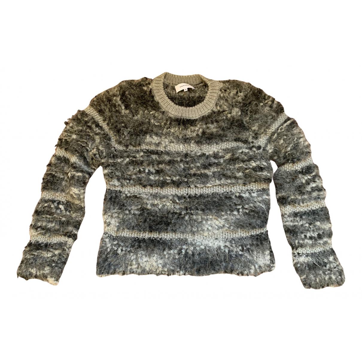 Carven - Pull   pour femme en laine - gris