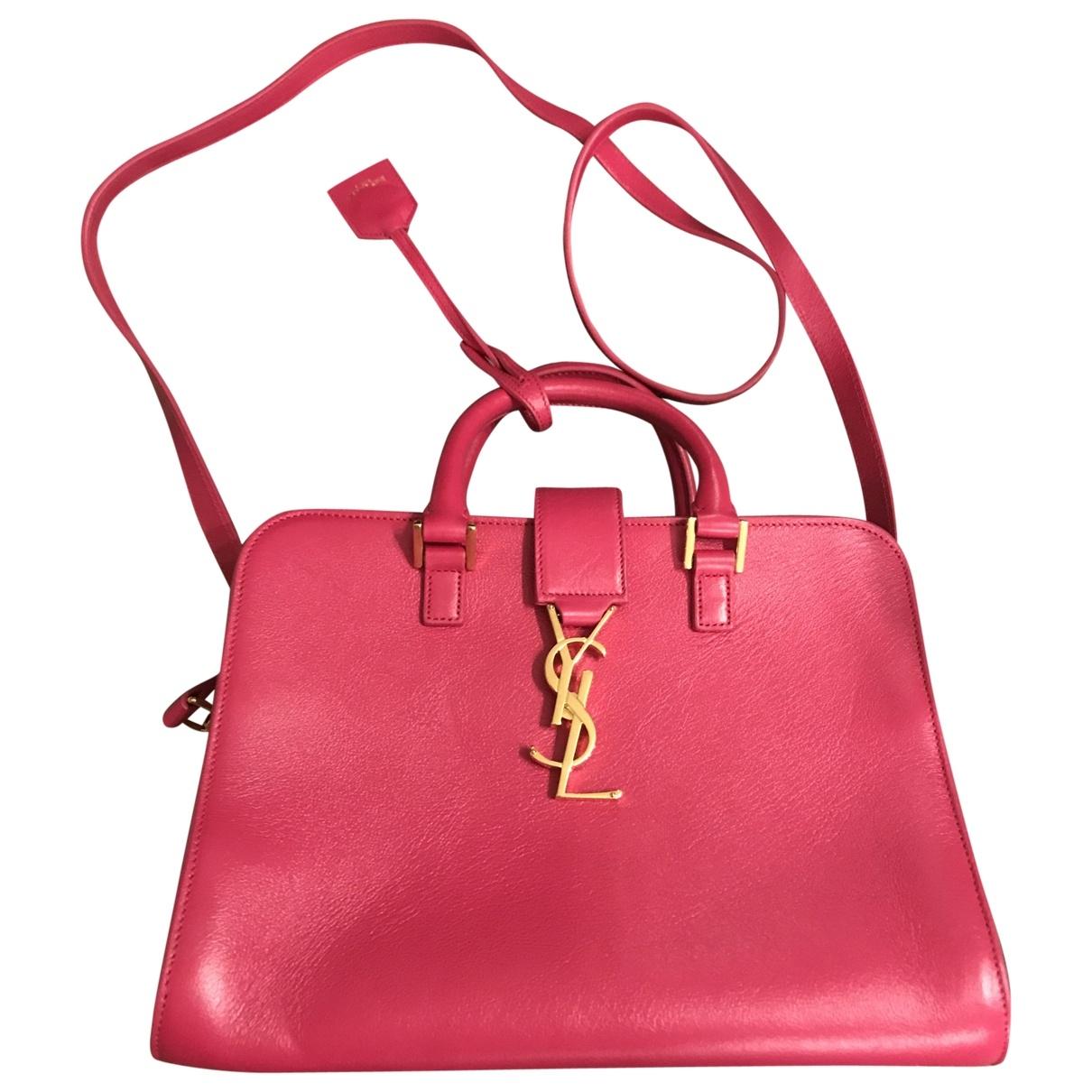 Saint Laurent - Sac a main Monogram Cabas pour femme en cuir - rose