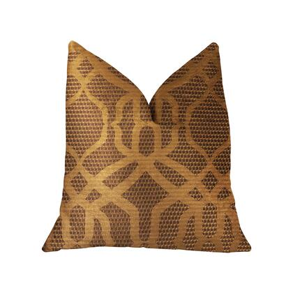 Portia  Collection PBRA2297-2424-DP Double sided  24 x 24 Plutus Portia  Gold and Brown Luxury Throw
