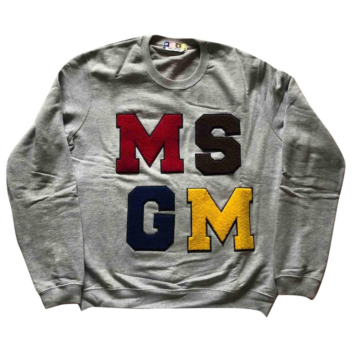 Msgm \N Pullover.Westen.Sweatshirts  in  Grau Baumwolle