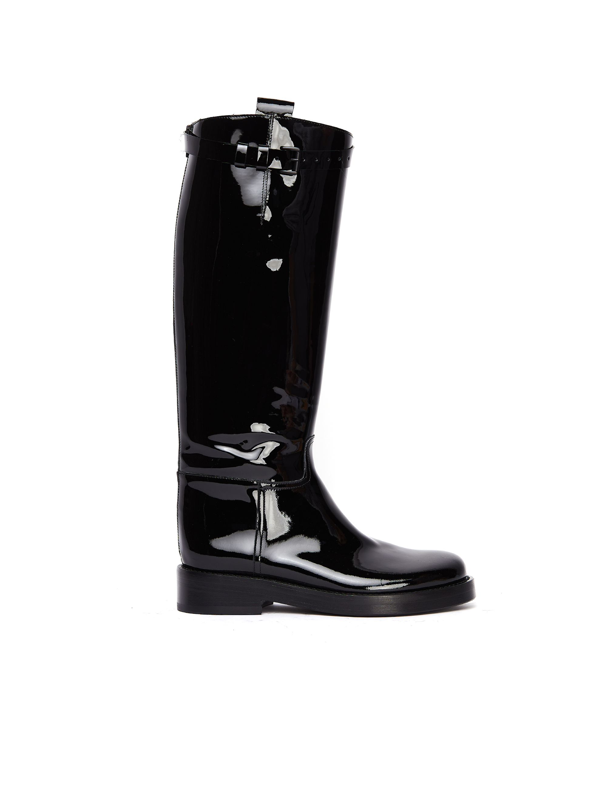 Ann Demeulemeester Black Patent Leather Boots