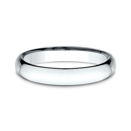 Womens 14K White Gold 3MM Light Comfort-Fit Wedding Band, 6 1/2 , No Color Family