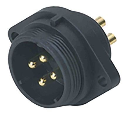 RS PRO Circular Connector, 12 contacts Flange Mount Plug, Solder IP68