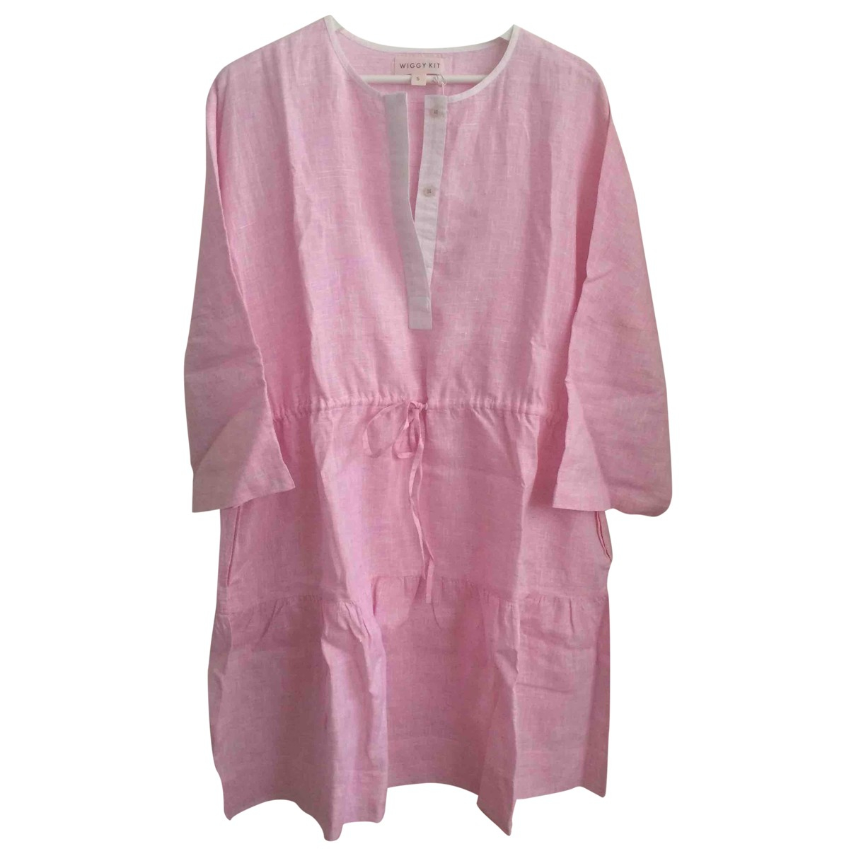 Wiggy Kit N Pink Linen dress for Women S International