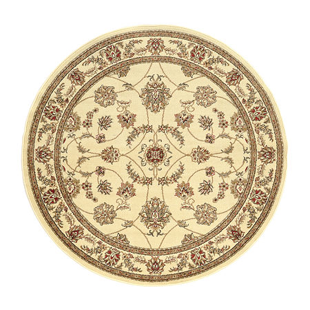 Como Intricate Traditional Oriental Area Rug, One Size , White