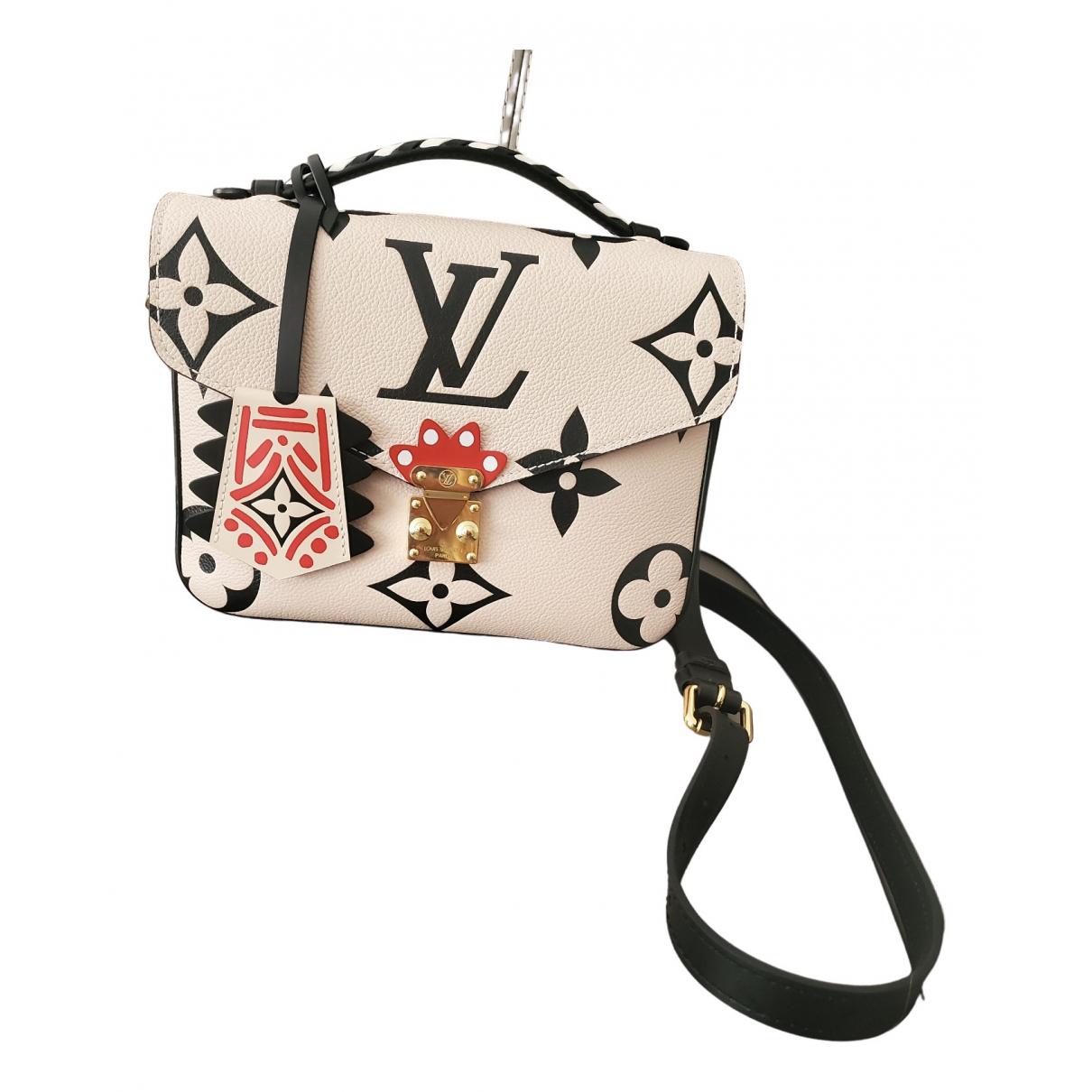 Louis Vuitton - Sac a main Metis pour femme en cuir - ecru