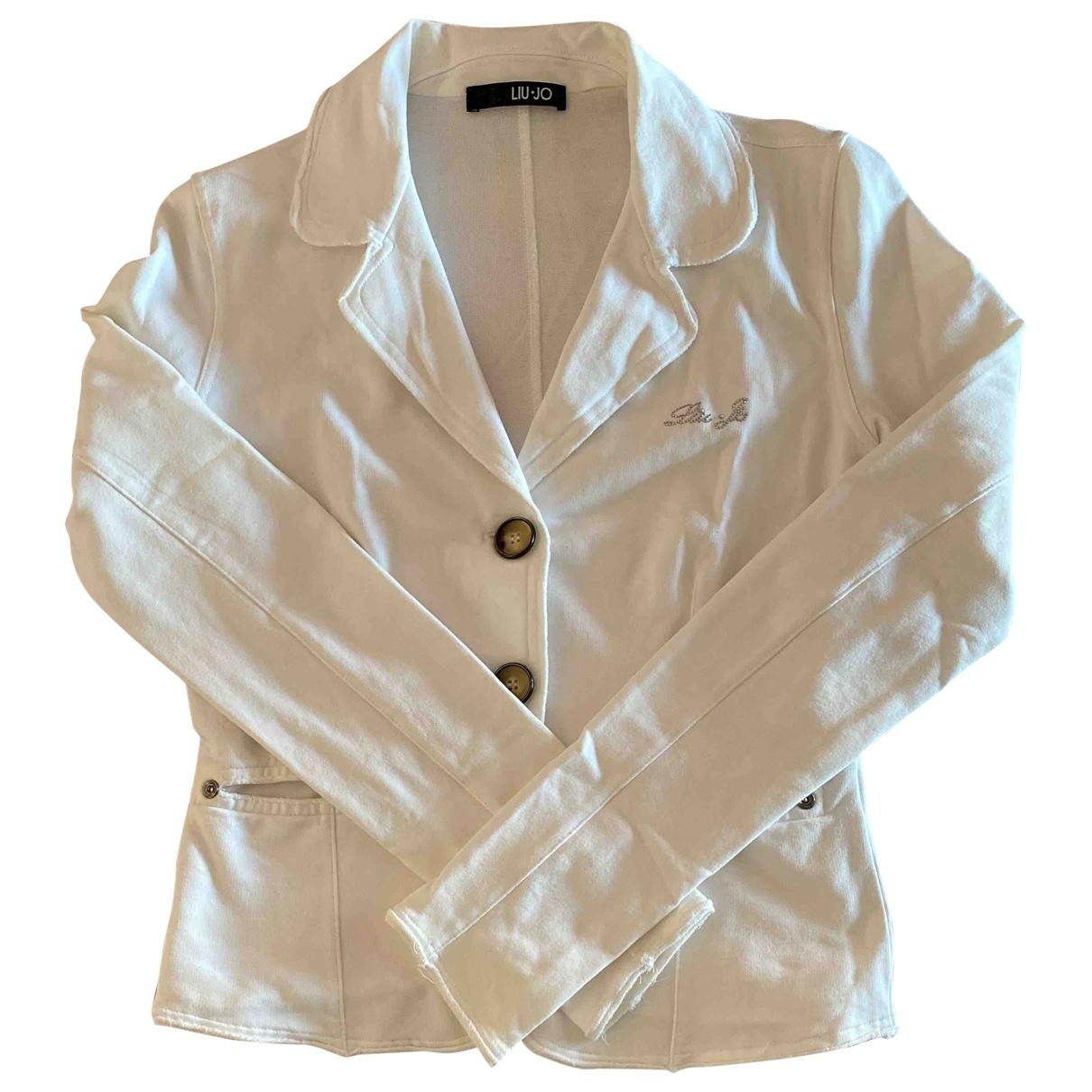 Liu.jo \N White Cotton jacket for Women 40 IT