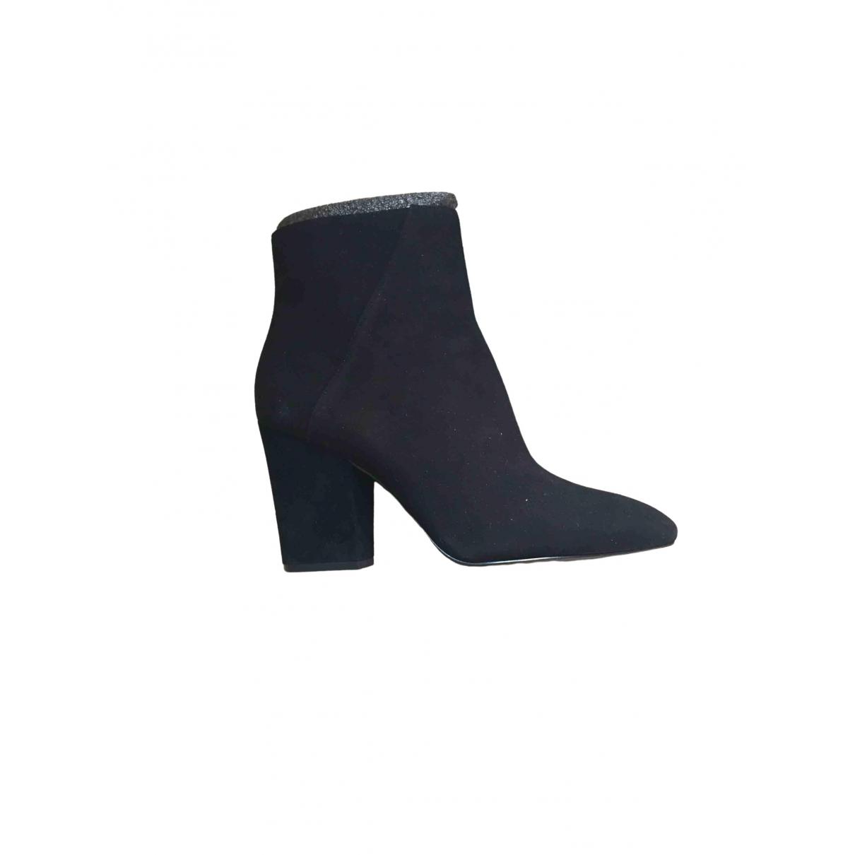 Nine West - Boots   pour femme en cuir - noir