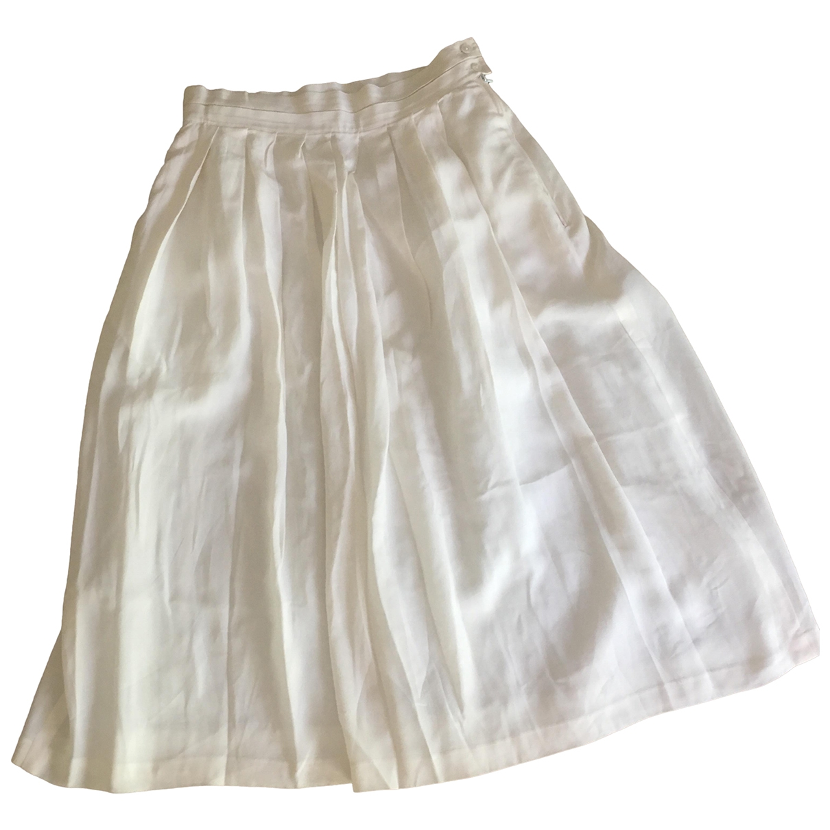 Louis Feraud \N Ecru Silk skirt for Women 38 FR
