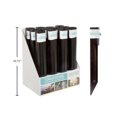11 accessoire de torche en métal durable piquet de terre noir, 195g