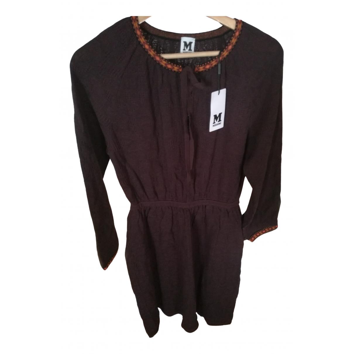 M Missoni \N Kleid in  Braun Baumwolle - Elasthan