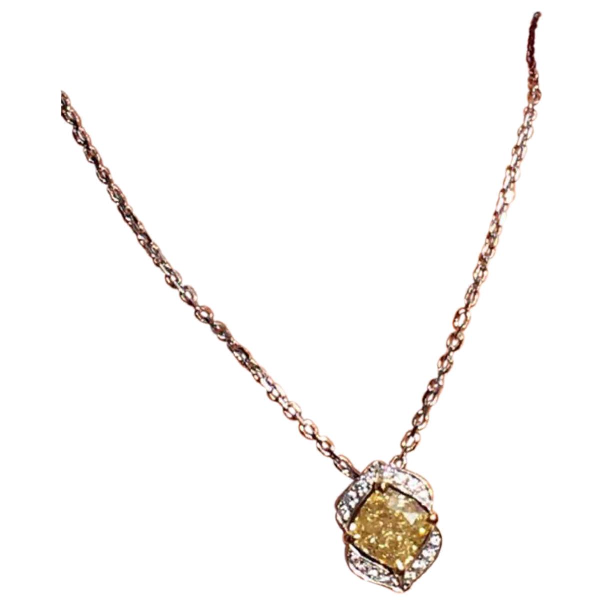 - Collier   pour femme en or blanc - jaune