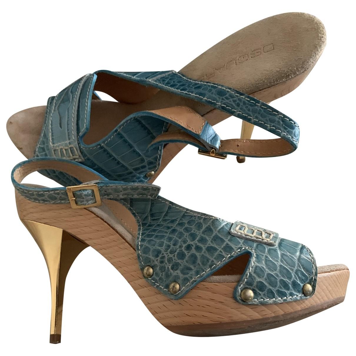 Dsquared2 - Escarpins   pour femme en cuir - turquoise