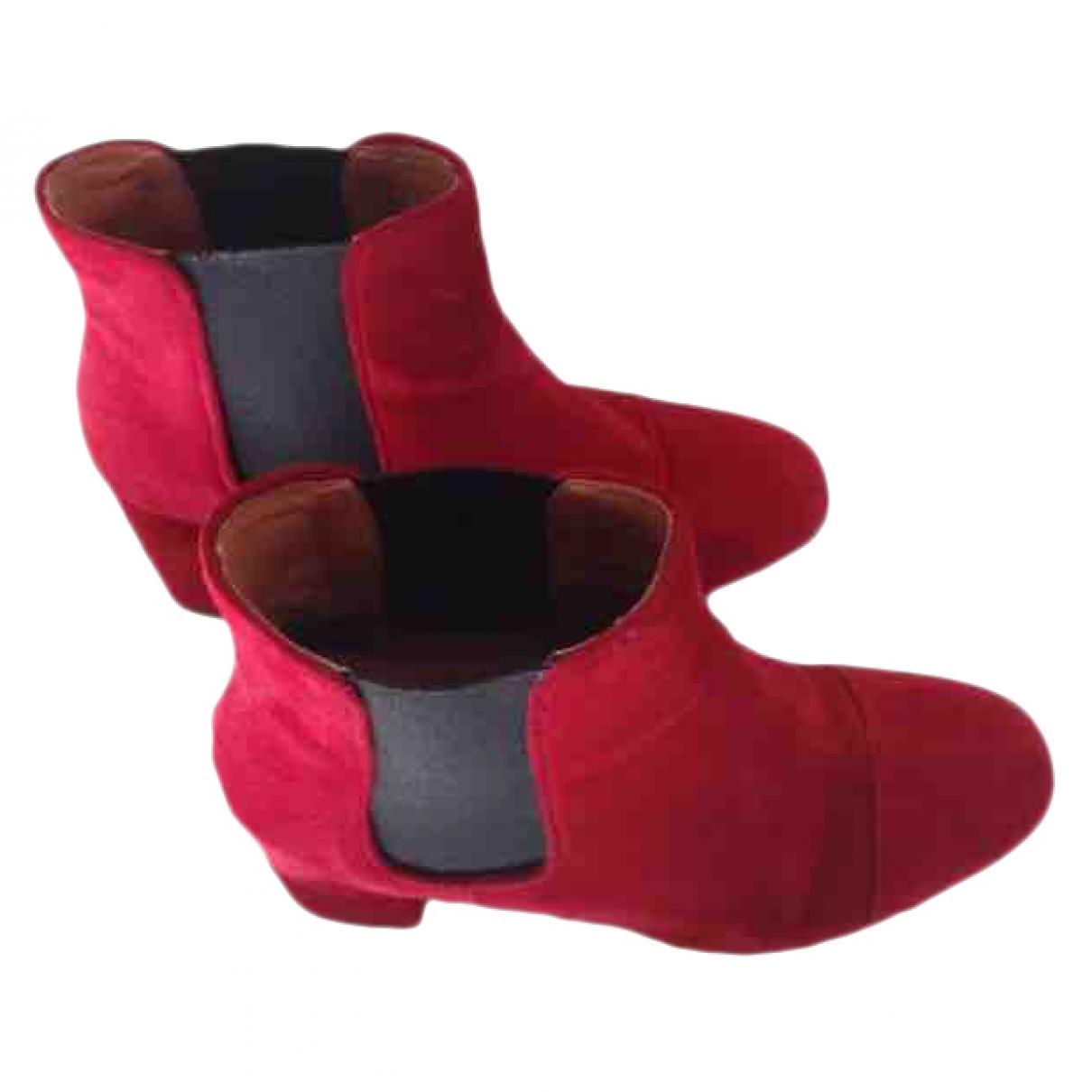 Balzac Paris - Boots   pour femme en cuir - rouge