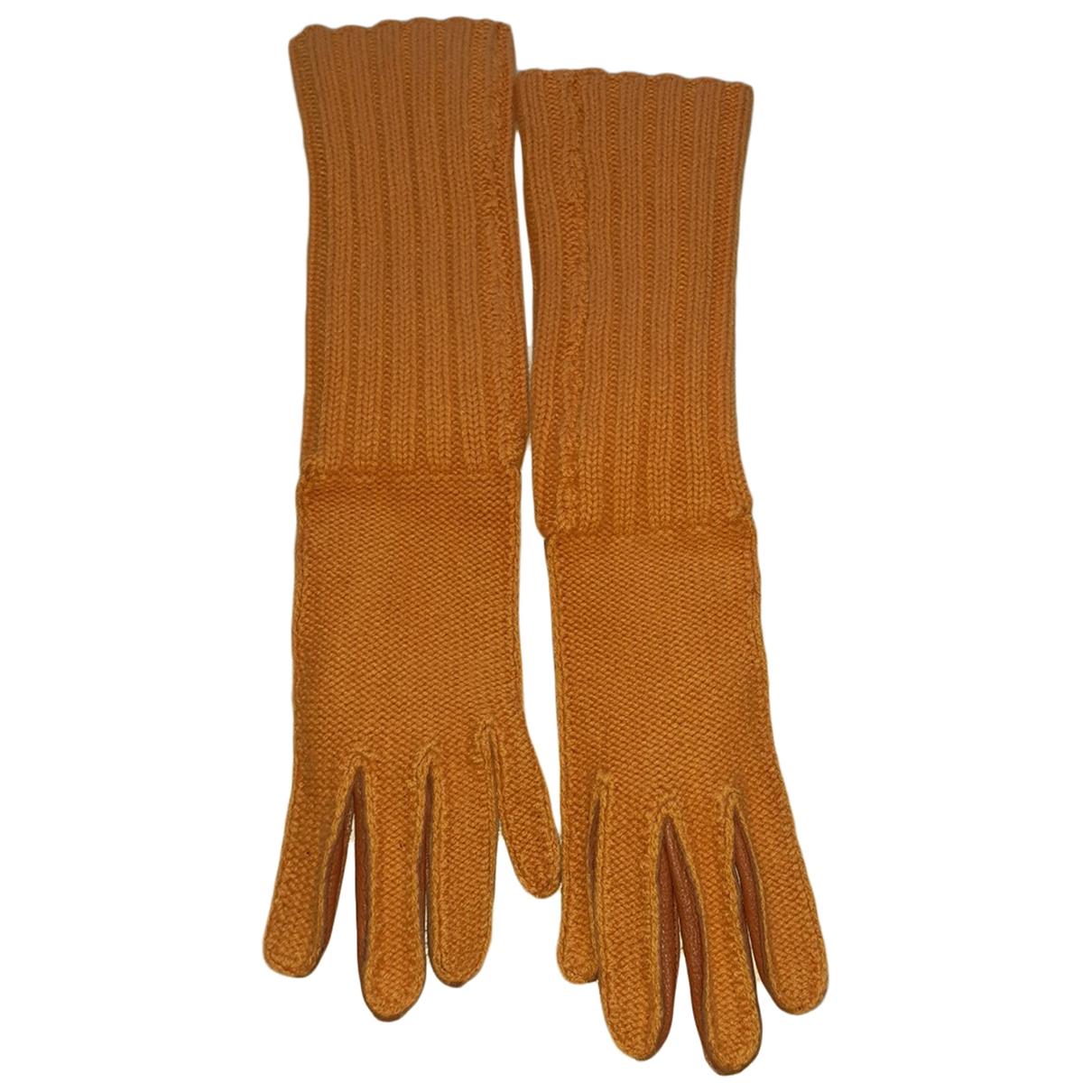 Malo \N Handschuhe in  Orange Kaschmir
