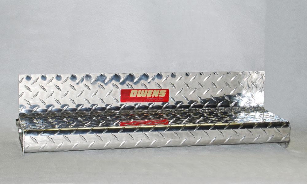 Owens Products OC99F8461CX Running Boards Classicpro Series Diamond 4 Inch 99-07 Ford F250/F350 Super Duty W/O Flares 4 Inch Riser Standard Cab Alumin
