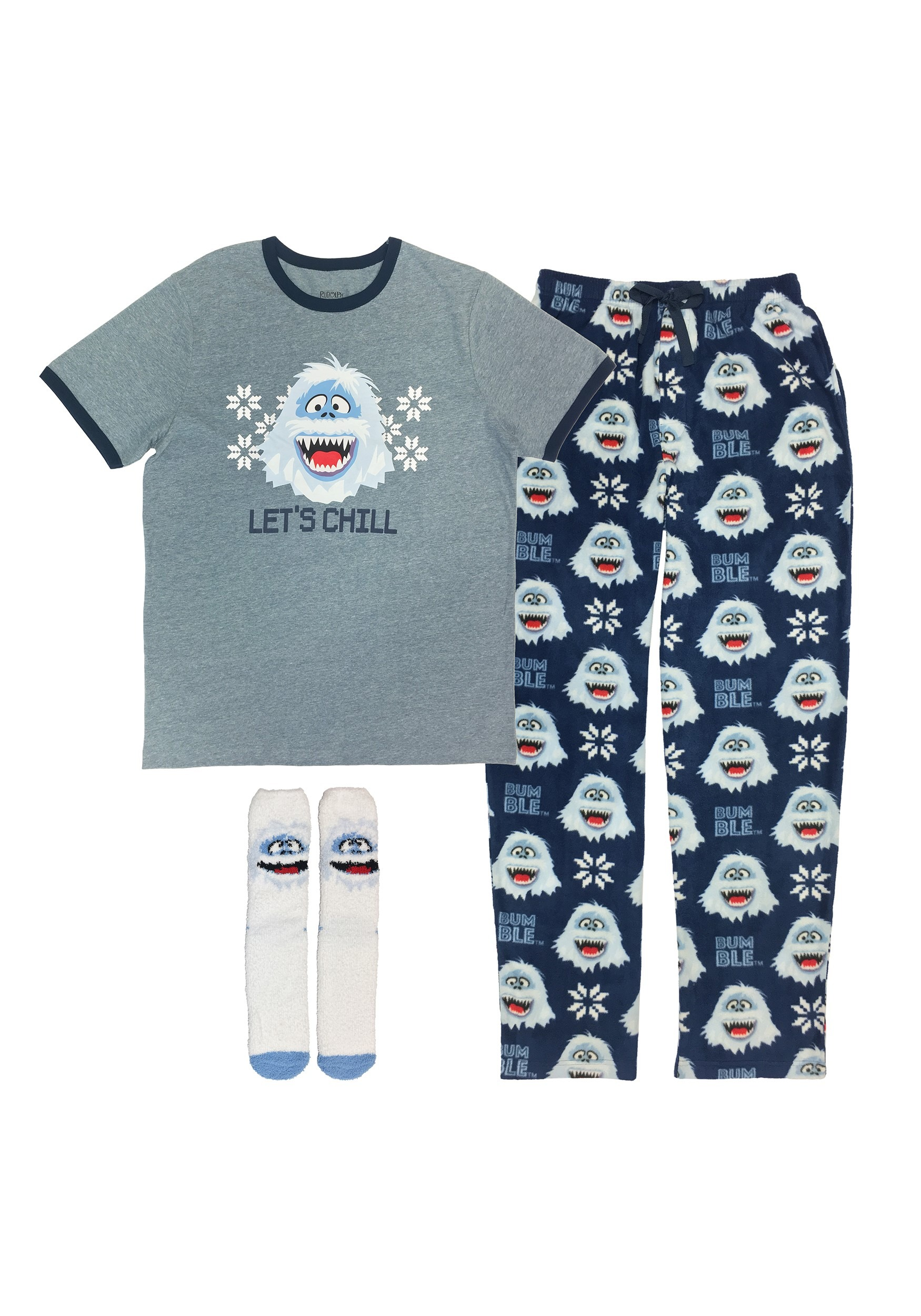 Rudolph the Red-Nosed Reindeer Bumble Loungewear Set for Men