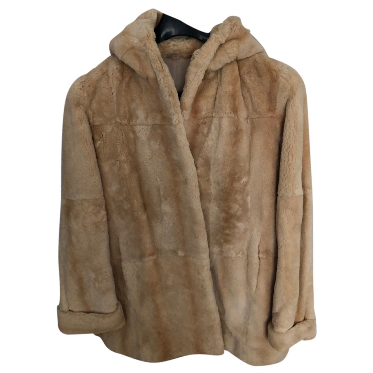 - Manteau   pour femme en chinchilla - beige
