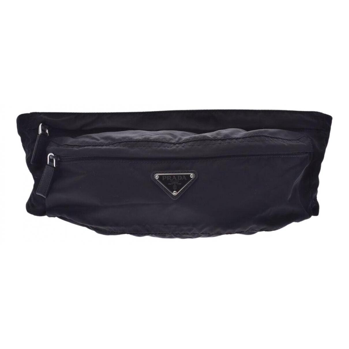 Prada - Pochette Tessuto  pour femme en toile - noir