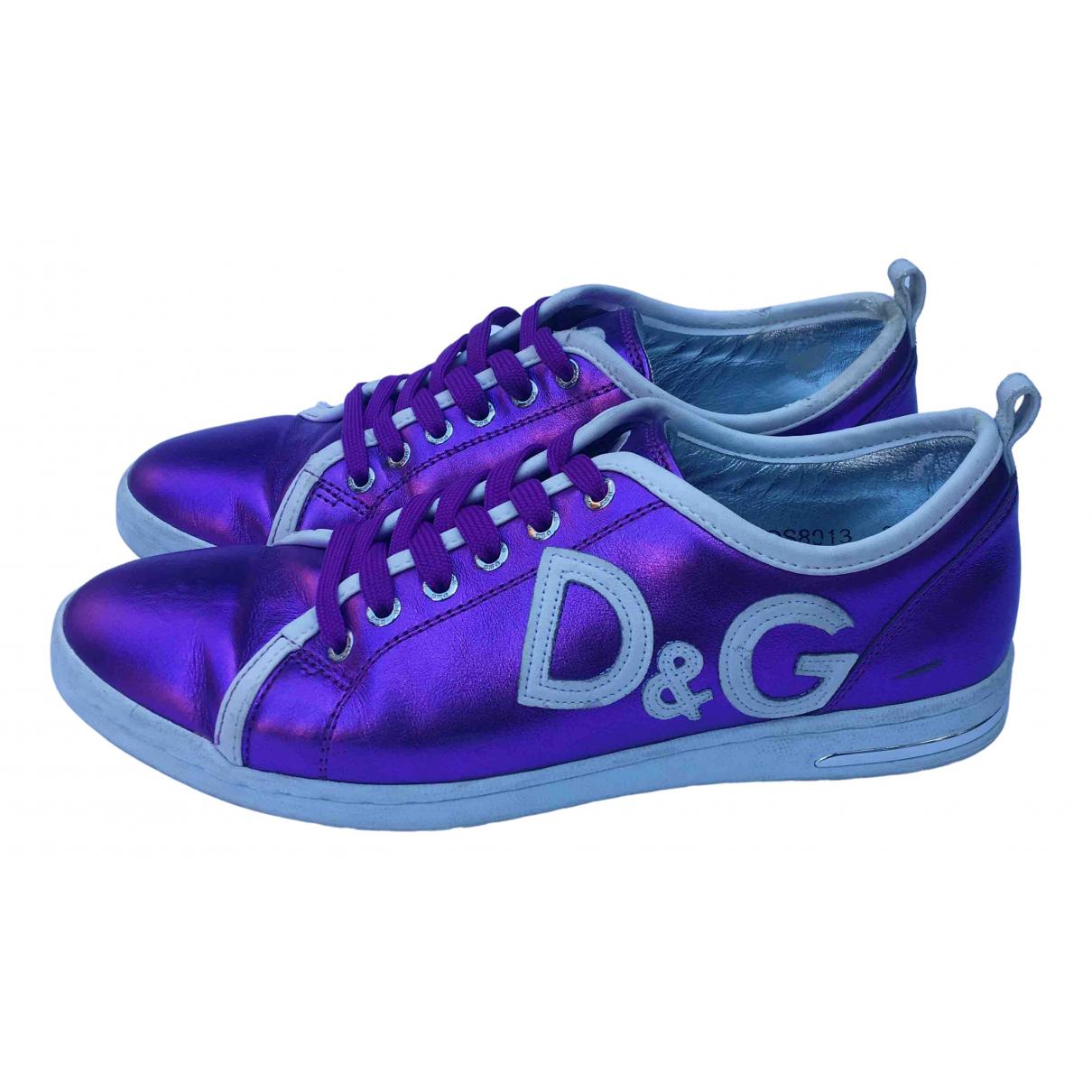 D&g \N Sneakers in  Metallic Leder