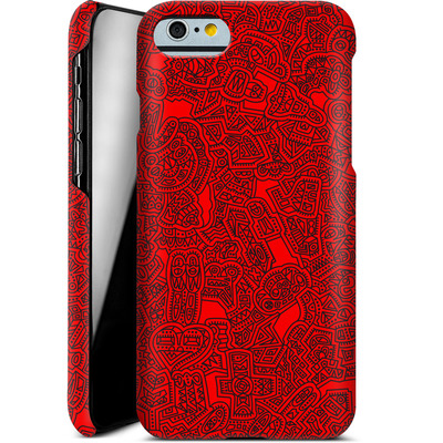 Apple iPhone 6s Smartphone Huelle - Red Black von Mattartiste