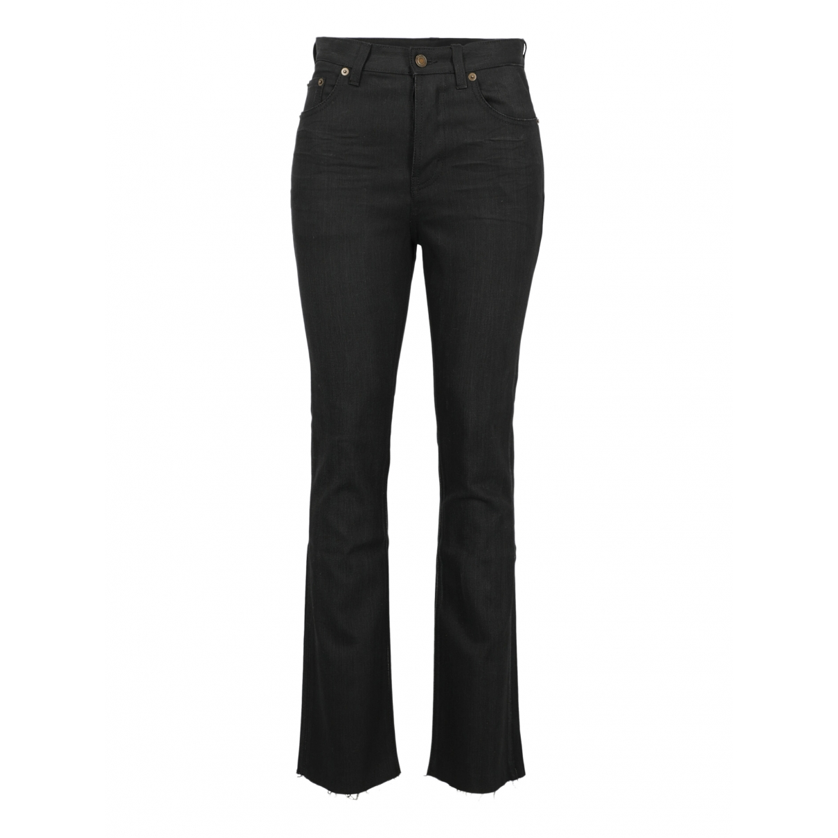 Saint Laurent \N Black Cotton Jeans for Women 28 US