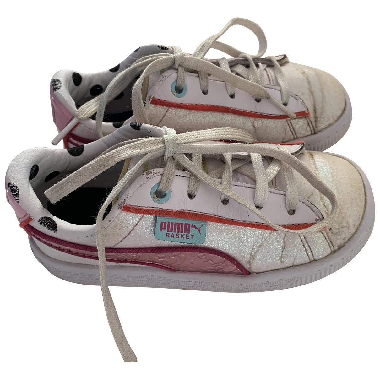 Puma - Baskets   pour enfant en cuir - blanc