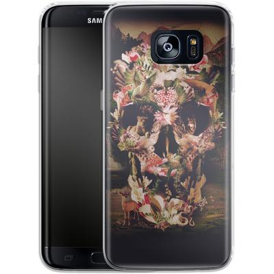 Samsung Galaxy S7 Edge Silikon Handyhuelle - Jungle Skull von Ali Gulec