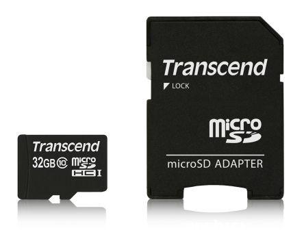 Transcend microSD 32GB inc. SD adapter C
