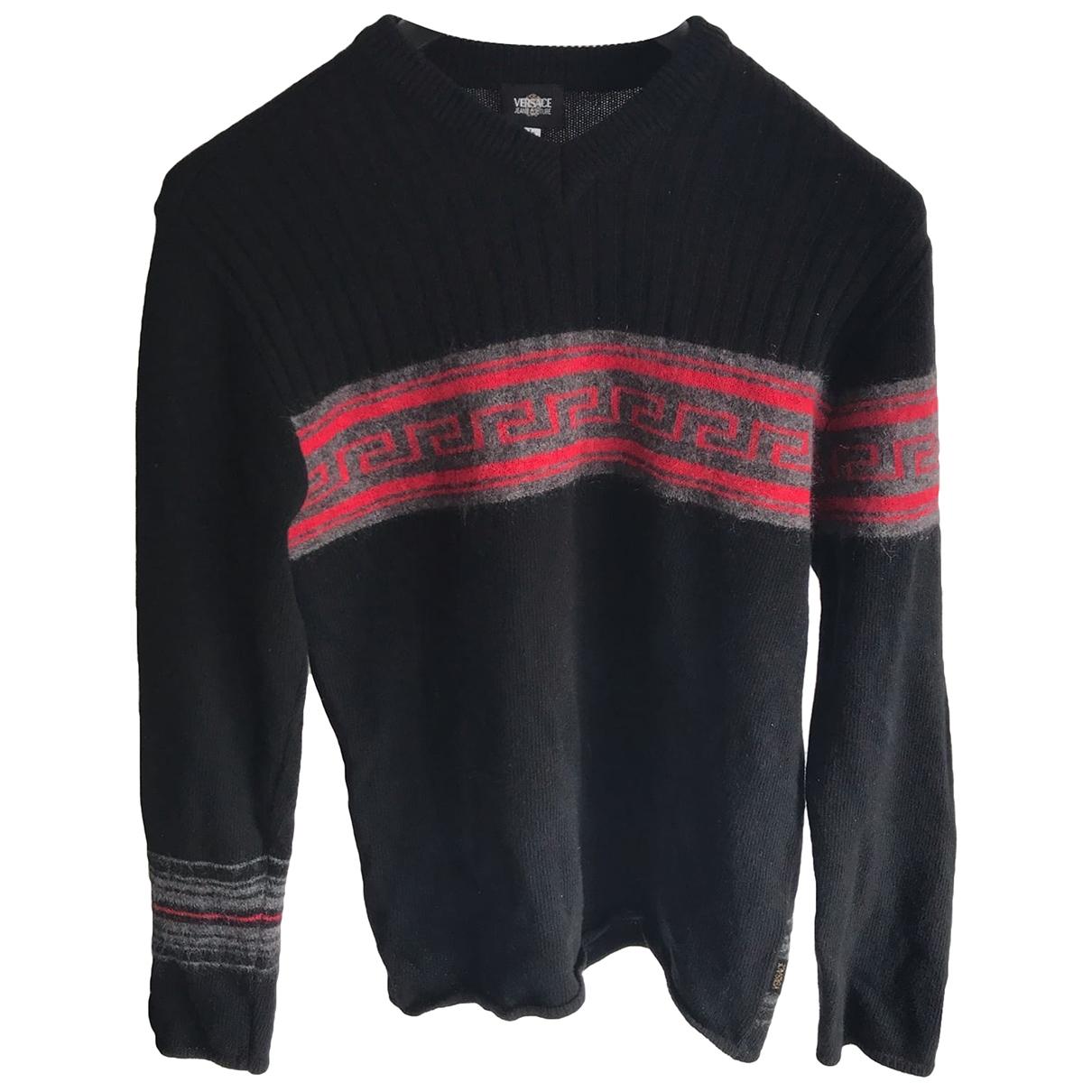 Versace Jeans \N Pullover.Westen.Sweatshirts  in  Schwarz Wolle