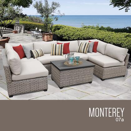 MONTEREY-07a Monterey 7 Piece Outdoor Wicker Patio Furniture Set 07a with 1 Cover in