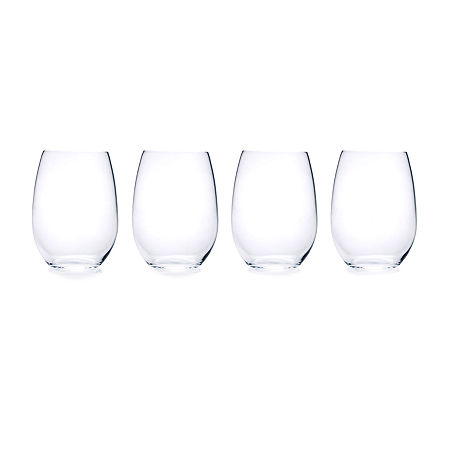 Mikasa Julie Stemless 4-pc. Wine Glass, One Size , Multiple Colors