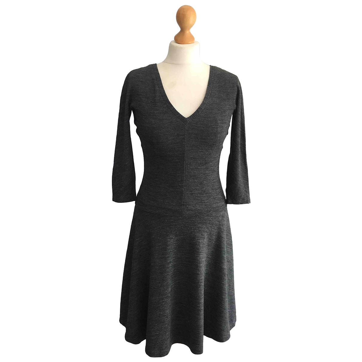 Gio' Guerreri N Grey Wool dress for Women 40 IT