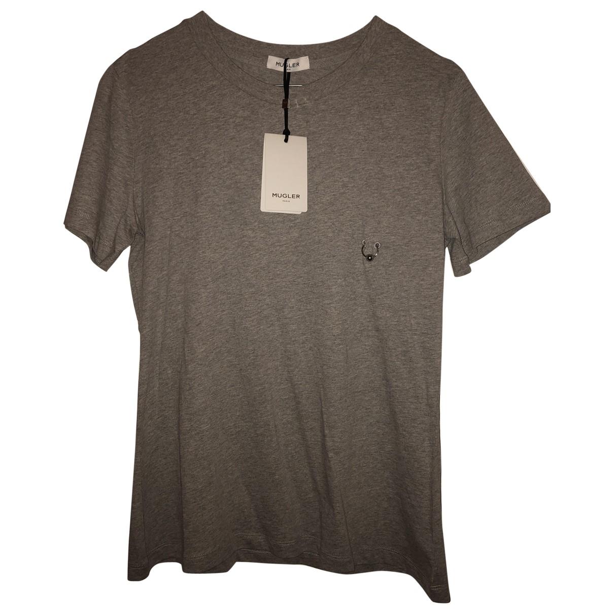 Mugler - Top   pour femme en coton - gris
