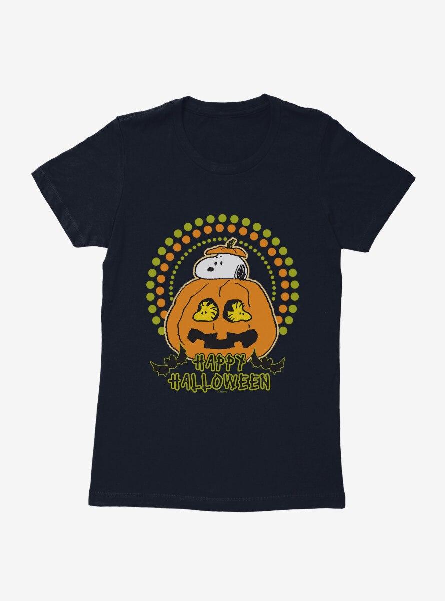 Peanuts Snoopy In Pumpkin Womens T-Shirt