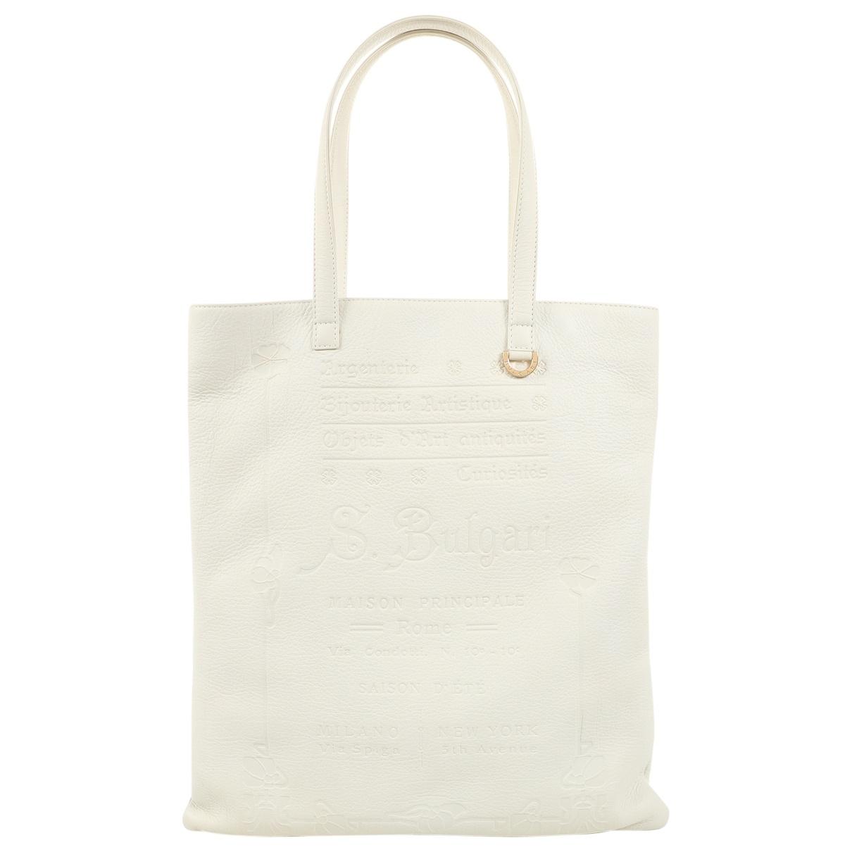 Bvlgari Bulgari White Leather handbag for Women \N