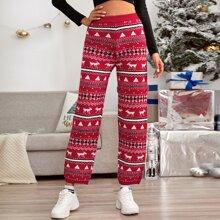 Christmas Pattern Knit Pant