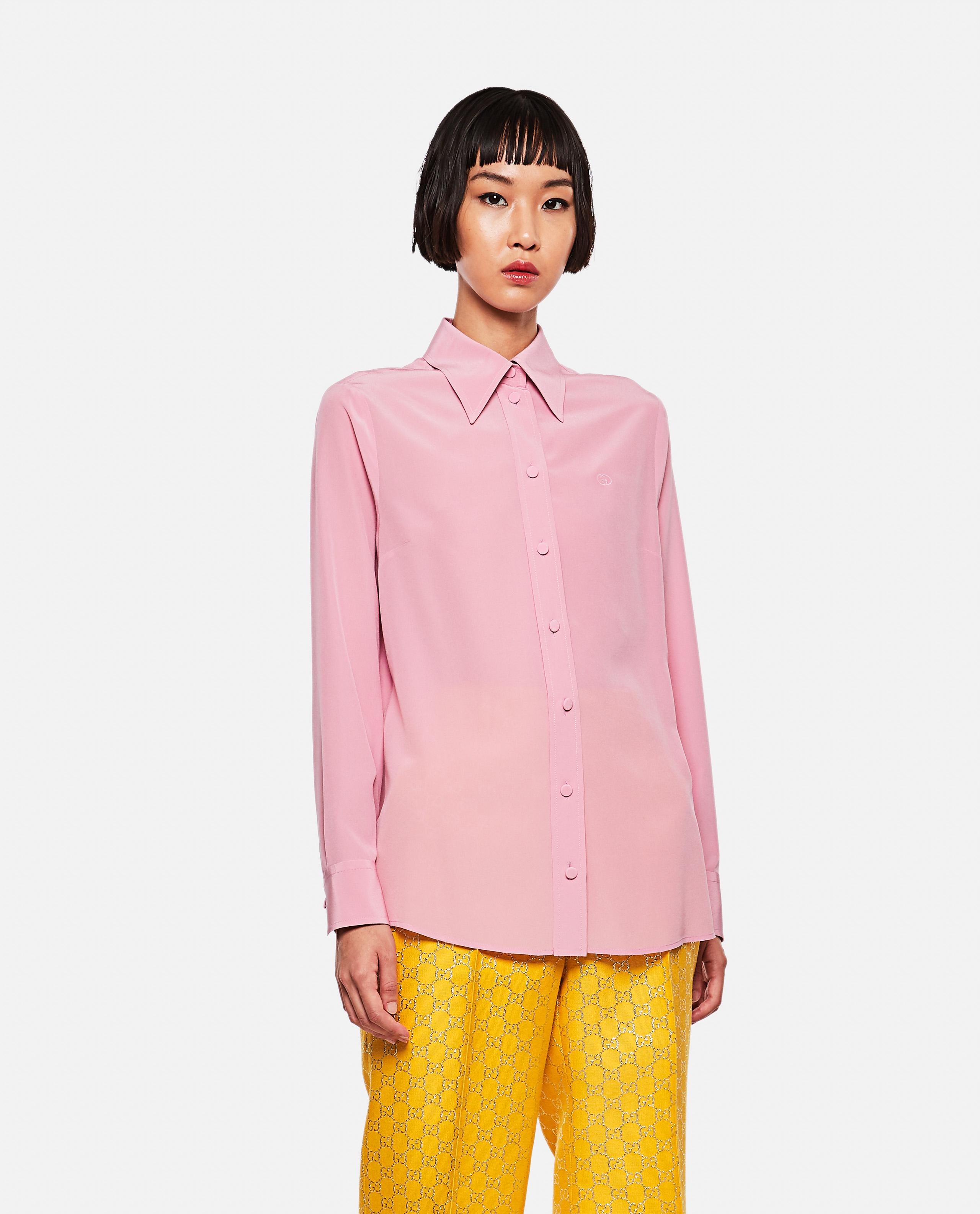 Crepe de Chine silk shirt