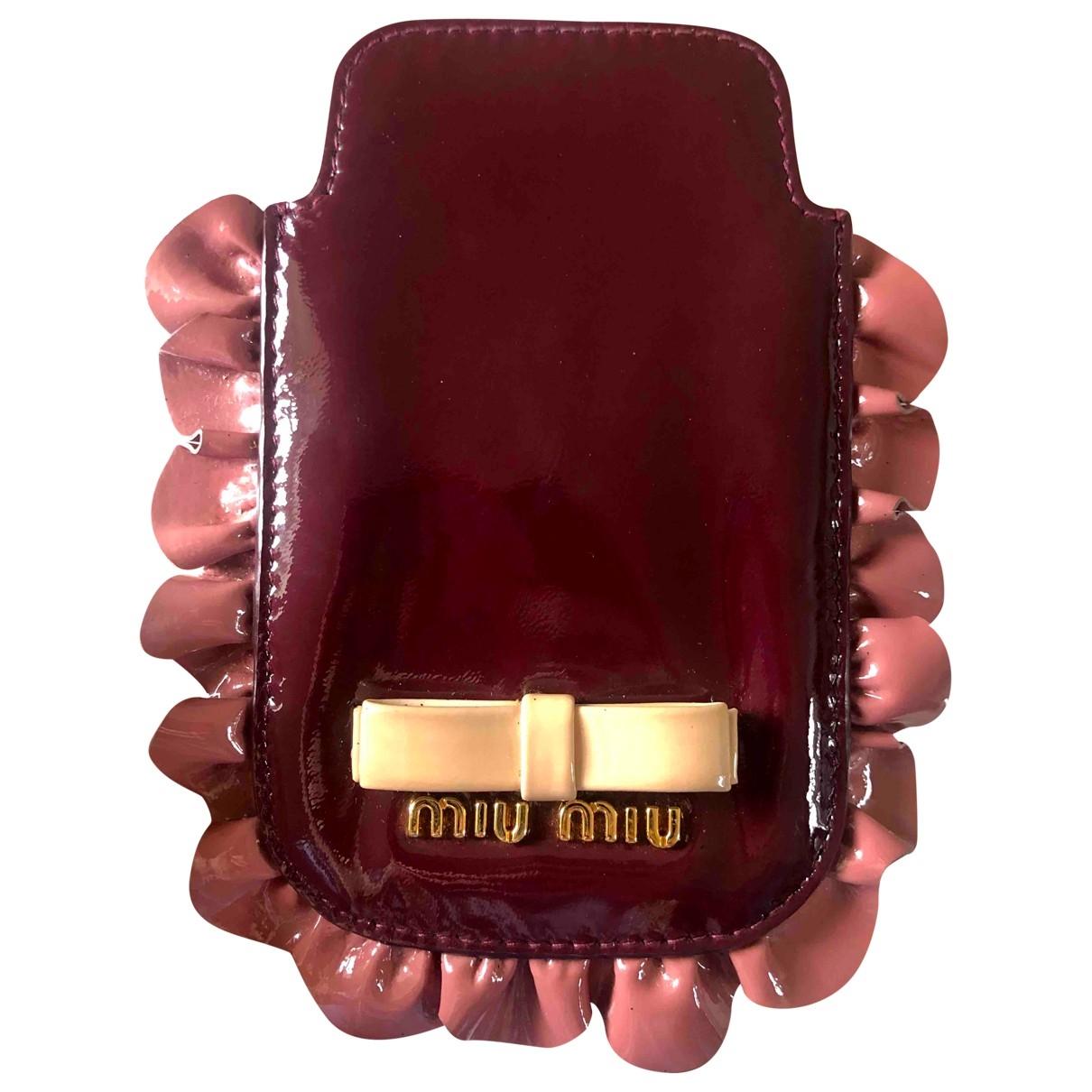 Miu Miu - Accessoires   pour lifestyle en cuir verni - bordeaux