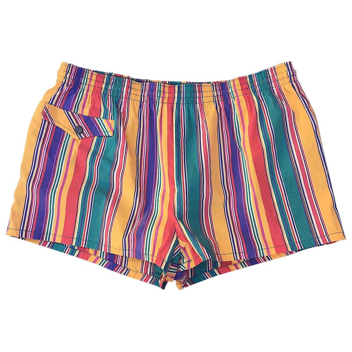 Non Signé / Unsigned \N Multicolour Cotton - elasthane Swimwear for Men L International