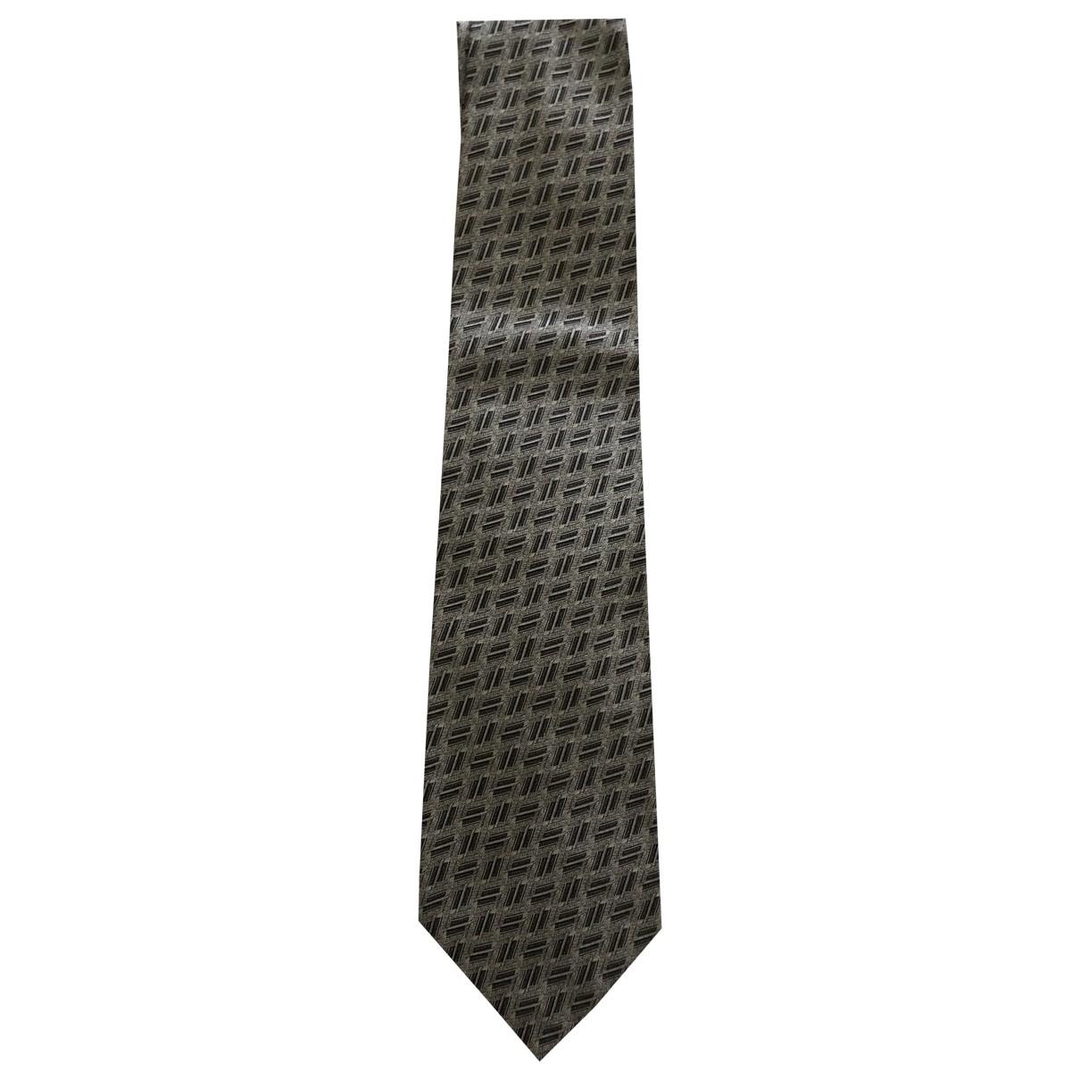 Gianni Versace \N Grey Silk Ties for Men \N