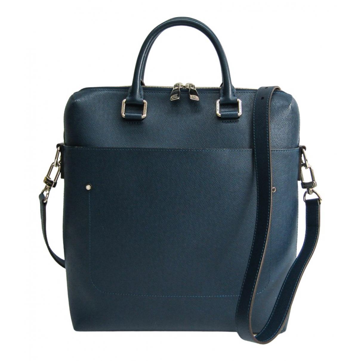 Louis Vuitton Grigori Blue Leather bag for Men N
