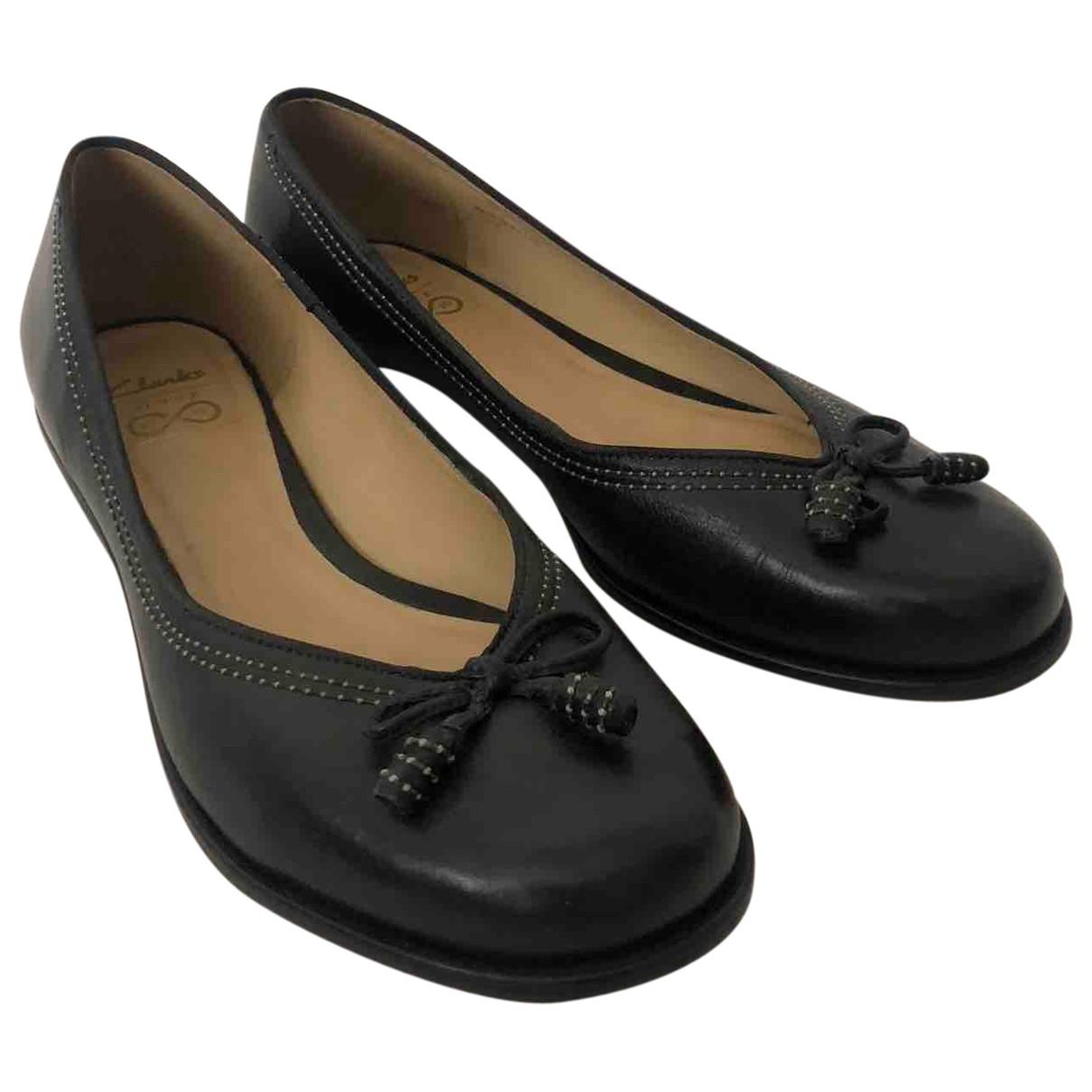 Clarks \N Ballerinas in  Schwarz Leder