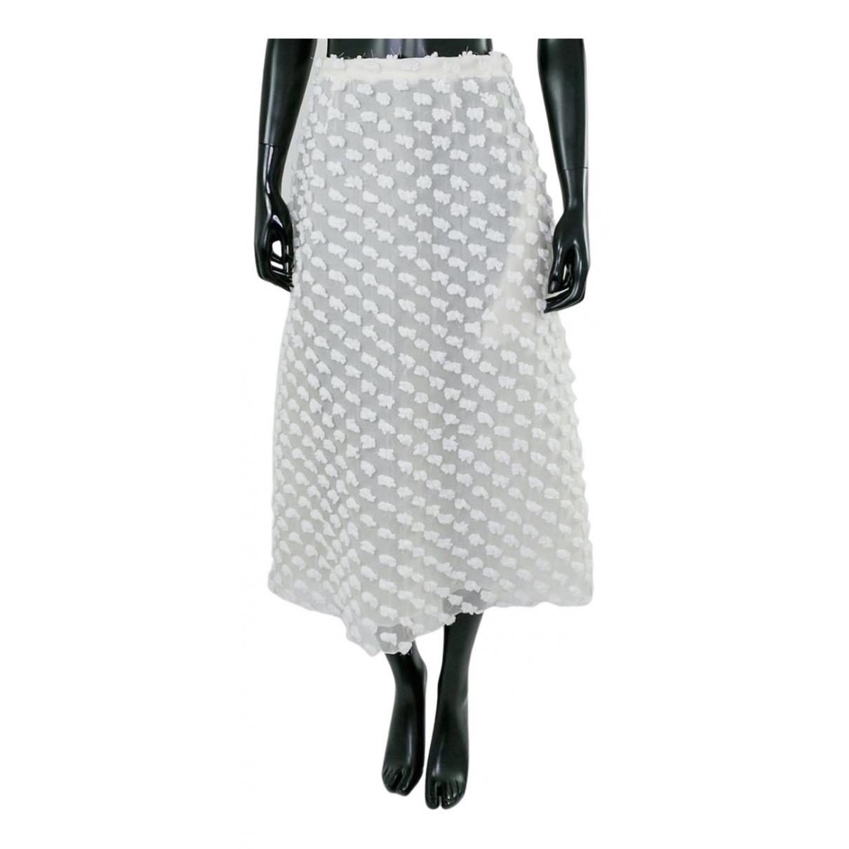 Rochas N White Cotton skirt for Women 42 FR