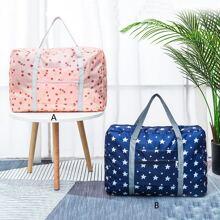 1pc Cherry & Star Print Travel Storage Bag