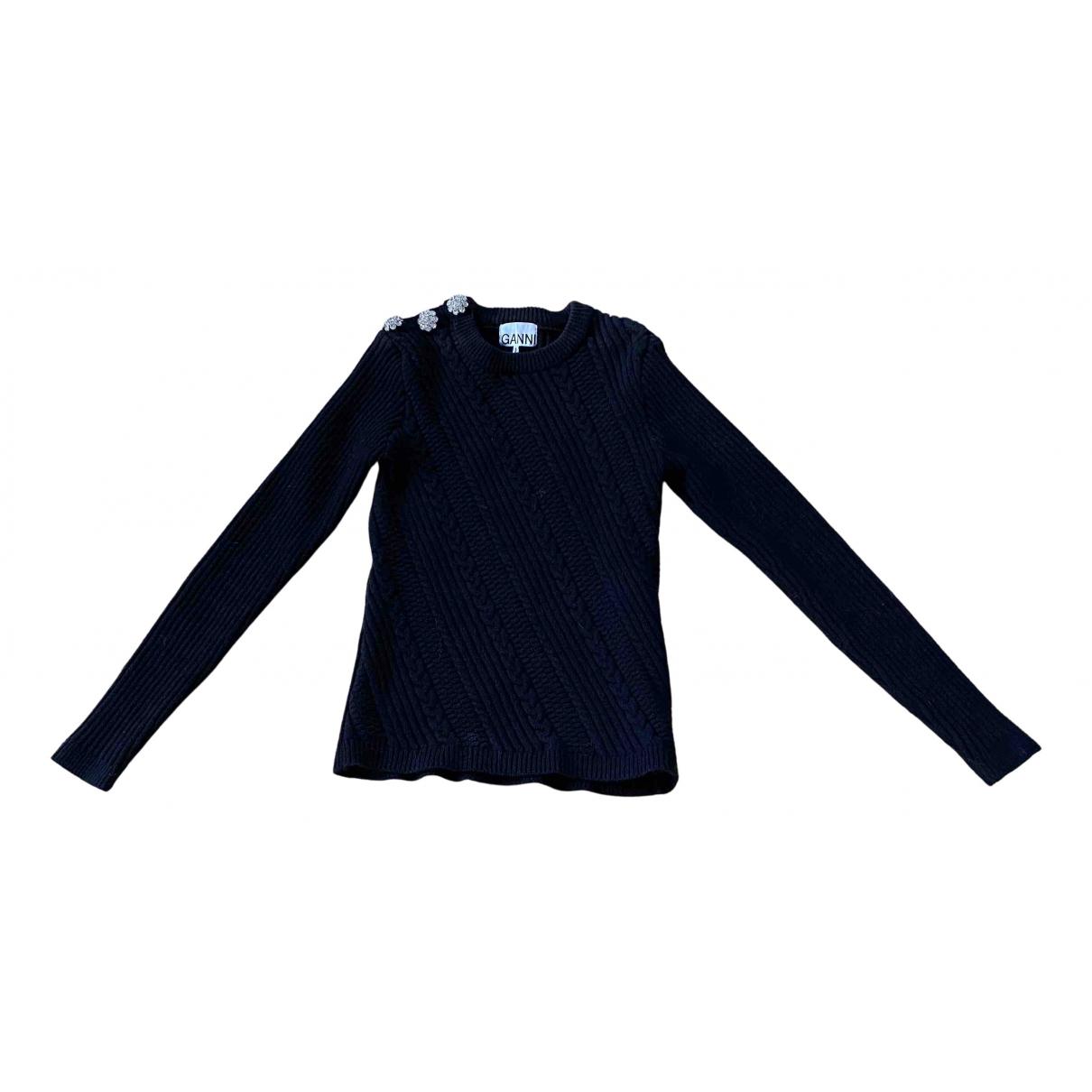 Ganni Spring Summer 2020 Pullover in  Schwarz Baumwolle