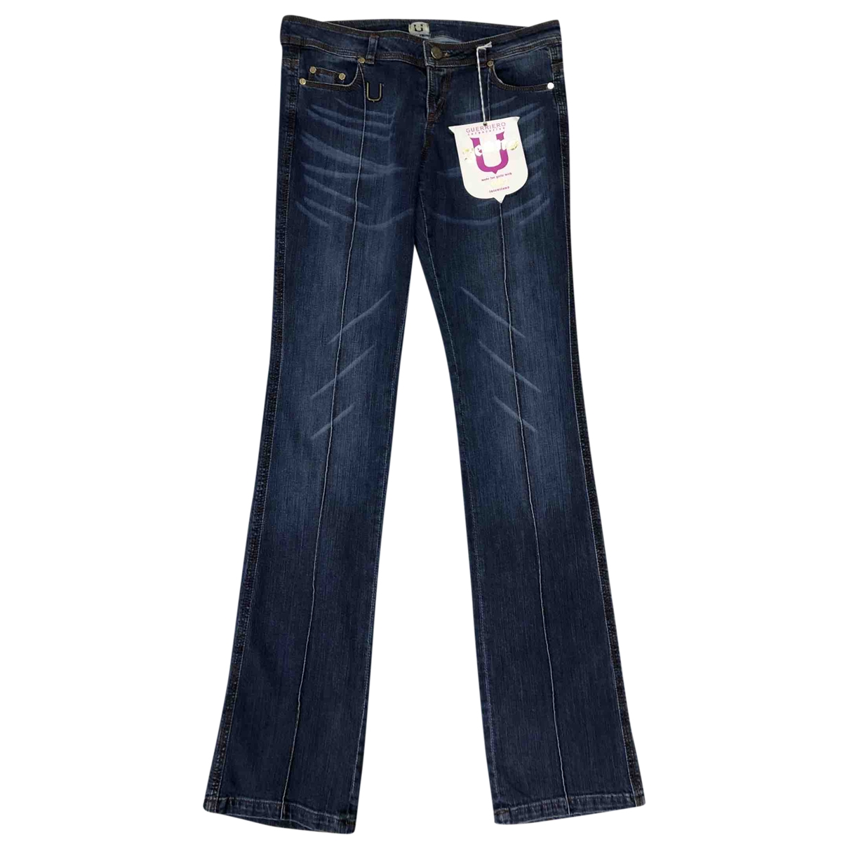 Guerreiro \N Blue Cotton Jeans for Women 38 FR